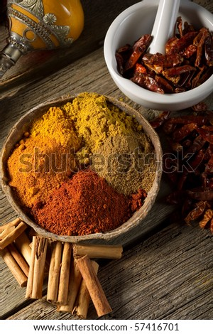 variety of spices - stock photo