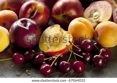 ... fruits, including apricots, peaches, nectarines, plums and cherries