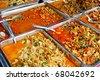 variety of thai food in fresh market, Asia, Thailand - stock photo