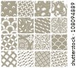 Variety styles seamless patterns set. All patterns available in swatch palette. Raster version - stock photo