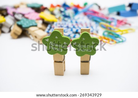 "Various and colourful office tools with ""Special Thanks"" - stock photo"