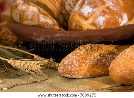 Various baked bread