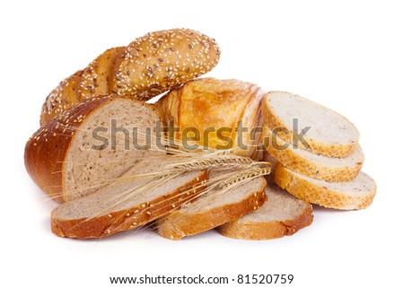 Various baking isolated on white background - stock photo
