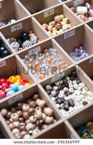 Various beads - stock photo
