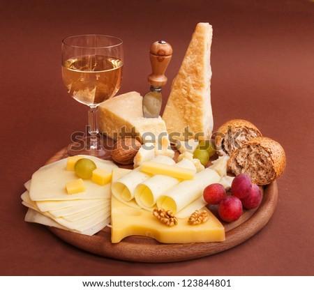 Various cheeses - stock photo