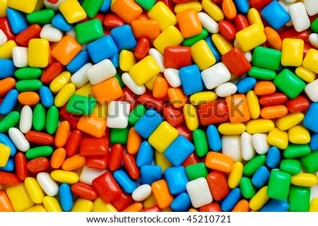 Various colorful candy
