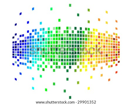 various colors pixels - stock photo