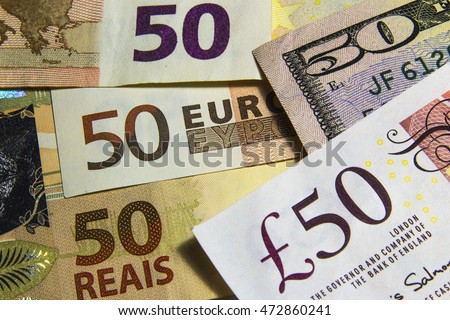 Various currencies bills