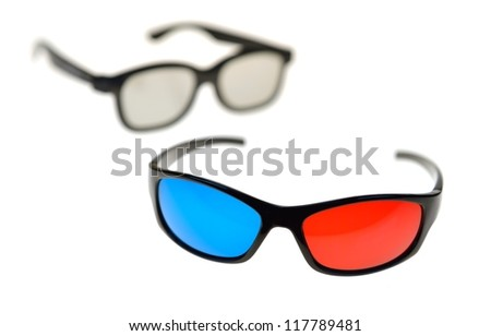 Various 3D Glasses - stock photo