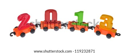 Various digits isolated on the white background - stock photo