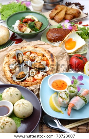 Various dishes in the world - stock photo