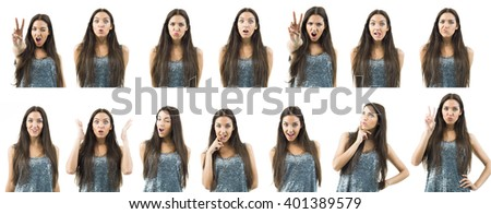 various expressions - stock photo
