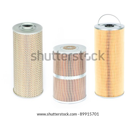 various filters isolated on white - stock photo