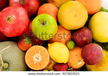 Various fresh healthy fruit  - stock photo