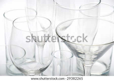 various glasses - stock photo
