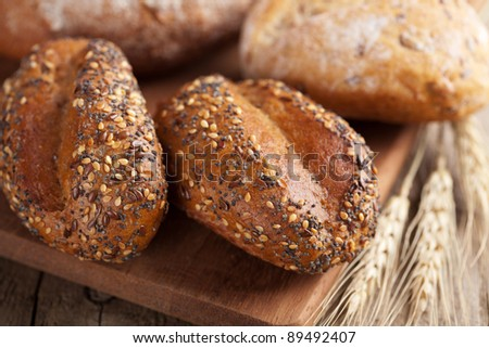 various healthy bread - stock photo