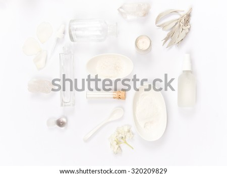 Various ingredients for Organic Skincare - stock photo