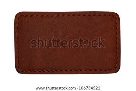 various jeans labels on white background - stock photo