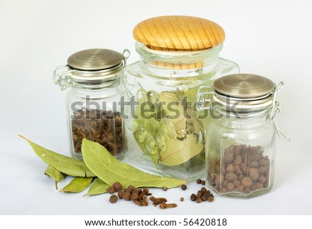 Various kinds of spices - stock photo