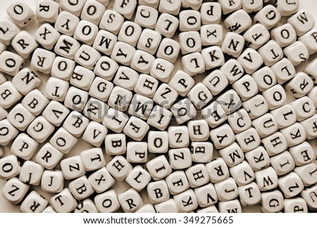 various letters background - stock photo