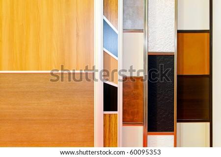 Various Materials And Patterns For Closet Door Samples