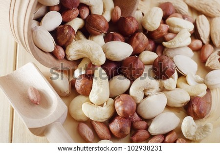 various nuts - stock photo