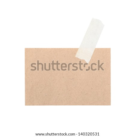 various old note paper isolated on a white background