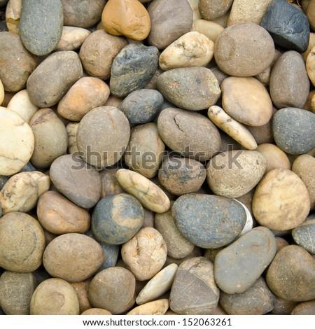 Various Pebble Stones Texture Background - stock photo