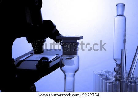 Various peices of laboratory equipment - stock photo