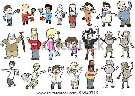 various people cartoon collection (raster version)