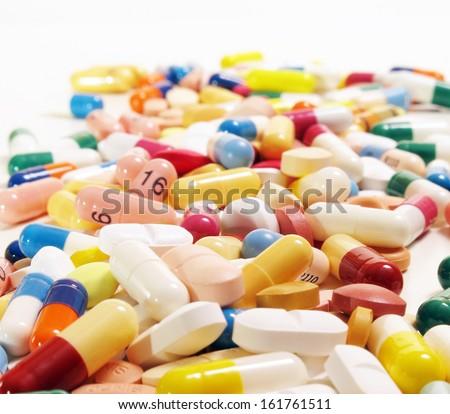 Various pharmaceuticals. - stock photo
