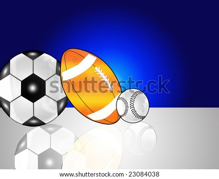 various player balls on a background - stock photo