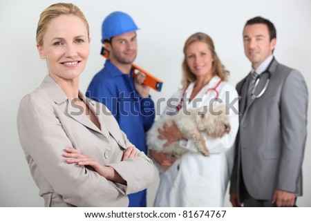 Various professions - stock photo