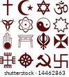 various religious symbols - stock photo