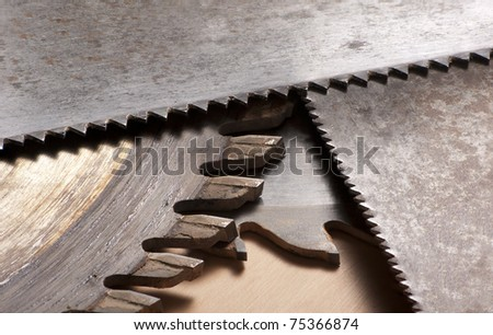 Various saw blades - stock photo