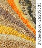 Various seeds and grains close up - stock photo