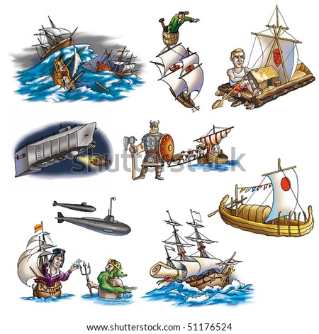Various ships, boat and more_6 - stock photo