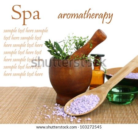 Various spa and aromatherapy - stock photo