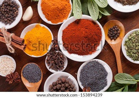 Various spices selection - stock photo