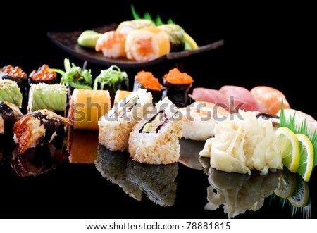 Various Sushi - stock photo