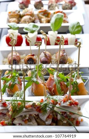 various tapas / appetizer food - stock photo