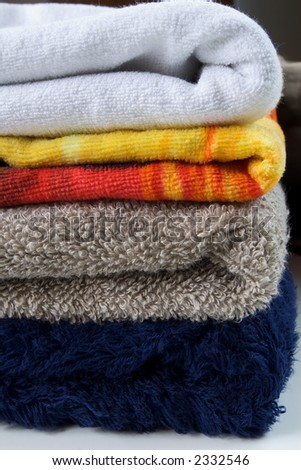 various towels - stock photo