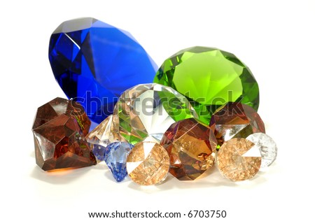 Various Type Gems and Stones - stock photo