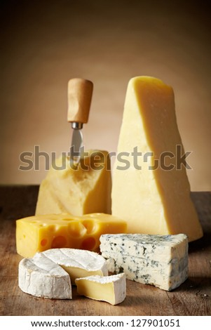 Various types of cheese - stock photo