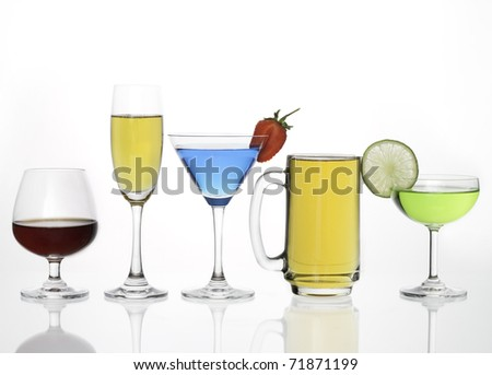 Various types of drink, - stock photo