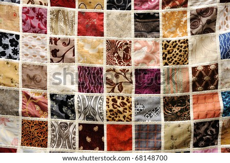 various types of fabric background, oriental ornament