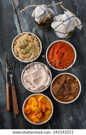 various types of tapas - stock photo