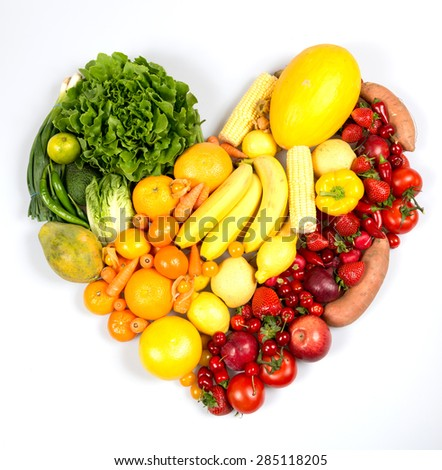 various vegetables and fruits