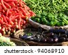 Various vegetables at vegetable market. India - stock photo