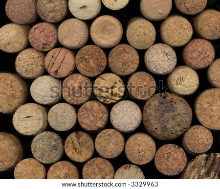 various wine cork tops